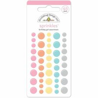 Doodlebug Design - Sugar Shoppe Collection - Sprinkles - Self Adhesive Enamel Dots - Birthday Girl