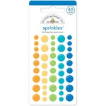 Doodlebug Design - Hip Hip Hooray Collection - Sprinkles - Self Adhesive Enamel Dots - Birthday Boy