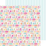 Doodlebug Design - Sugar Shoppe Collection - 12 x 12 Double Sided Paper - Birthday Girl