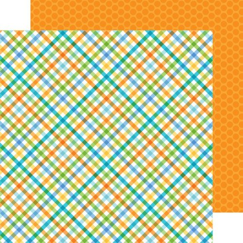Doodlebug Design - Hip Hip Hooray Collection - 12 x 12 Double Sided Paper - Party Plaid
