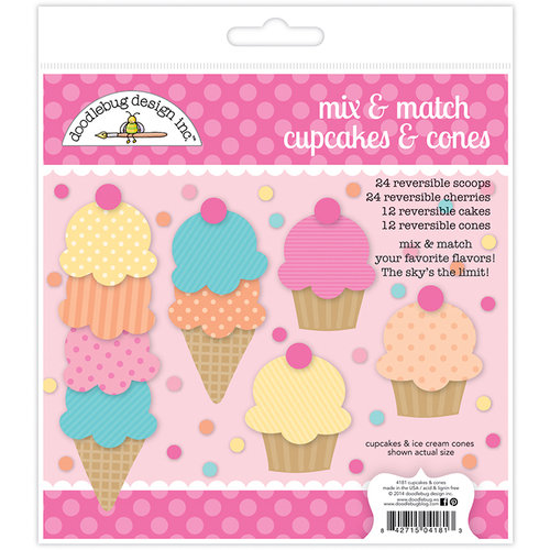 Doodlebug Design - Fairy Tales Collection - Sugar Shoppe Cupcakes and Cones Craft Kit