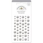 Doodlebug Design - Sprinkles - Self Adhesive Enamel Dots - Silver