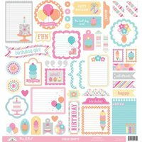 Doodlebug Design - Sugar Shoppe Collection - 12 x 12 Cardstock Stickers - This and That