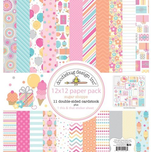 Doodlebug Design - Sugar Shoppe Collection - 12 x 12 Paper Pack