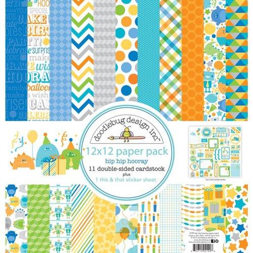 Doodlebug Design - Hip Hip Hooray Collection - 12 x 12 Paper Pack