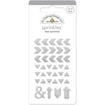 Doodlebug Design - The Graduates Collection - Sprinkles - Self Adhesive Arrows - Silver