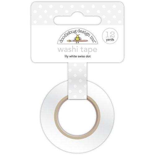 Doodlebug Design - Washi Tape - Lily White Swiss Dot