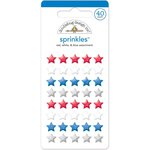 Doodlebug Design - Yankee Doodle Collection - Sprinkles - Self Adhesive Stars - Red, White and Blue