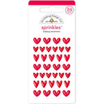 Doodlebug Design - Yankee Doodle Collection - Sprinkles - Self Adhesive Hearts - Ladybug