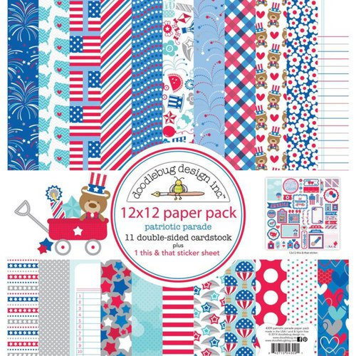 Doodlebug Design - Patriotic Parade Collection - 12 x 12 Paper Pack