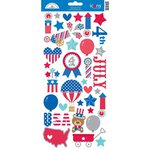Doodlebug Design - Patriotic Parade Collection - Cardstock Stickers - Icons