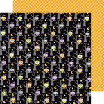 Doodlebug Design - Ghouls and Goodies Collection - Halloween - 12 x 12 Double Sided Paper - Midnight Magic