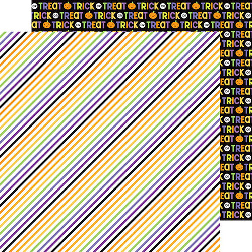 Doodlebug Design - Ghouls and Goodies Collection - Halloween - 12 x 12 Double Sided Paper - Broomsticks