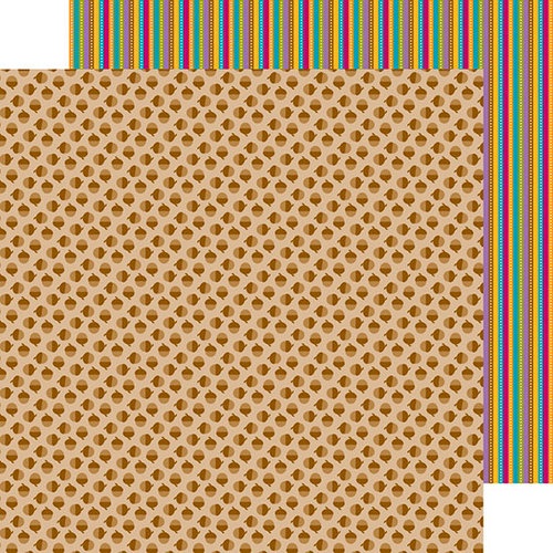 Doodlebug Design - Friendly Forest Collection - 12 x 12 Double Sided Paper - Acorns-A-Plenty