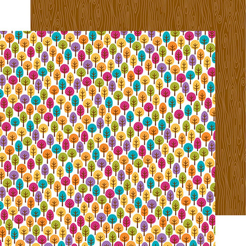 Doodlebug Design - Friendly Forest Collection - 12 x 12 Double Sided Paper - Fall Forest