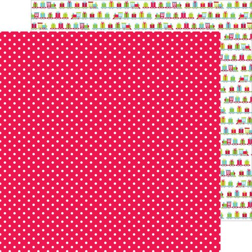 Doodlebug Design - Santa Express Collection - Christmas - 12 x 12 Double Sided Paper - Merry Mistletoe