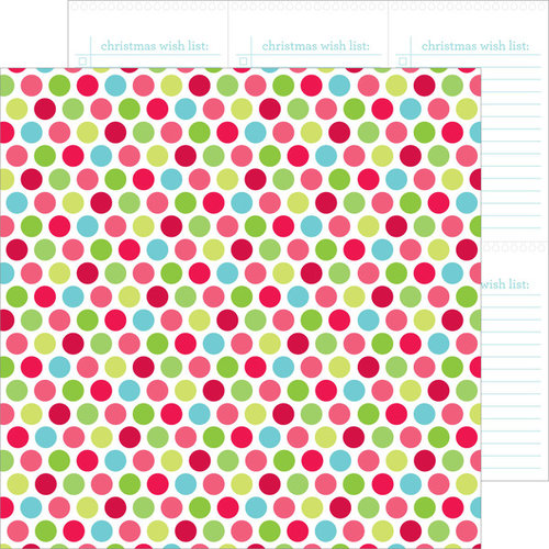 Doodlebug Design - Santa Express Collection - Christmas - 12 x 12 Double Sided Paper - Christmas Confetti