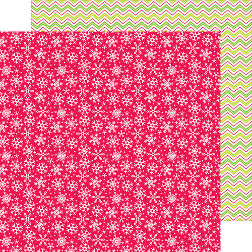 Doodlebug Design - Santa Express Collection - Christmas - 12 x 12 Double Sided Paper - Winter Kisses