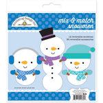 Doodlebug Design - Frosty Friends Collection - Mix and Match Snowmen Craft Kit
