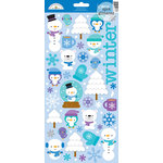 Doodlebug Design - Frosty Friends Collection - Christmas - Sugar Coated Cardstock Stickers - Icons