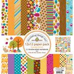 Doodlebug Design - Friendly Forest Collection - 12 x 12 Paper Pack