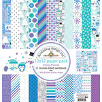 Doodlebug Design - Frosty Friends Collection - Christmas - 12 x 12 Paper Pack