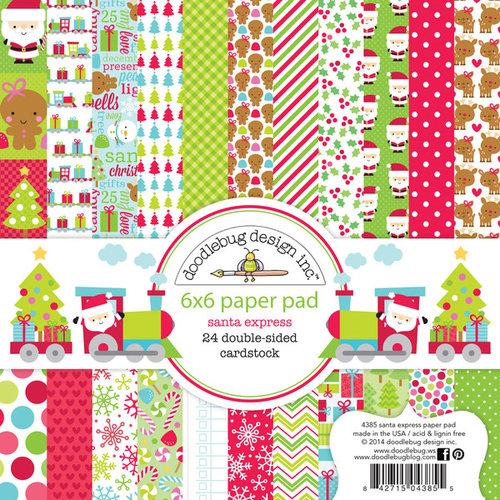Doodlebug Design - Santa Express Collection - Christmas - 6 x 6 Paper Pad