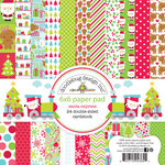 Doodlebug Design - Santa Express Collection - Christmas - 6 x 6 Paper Pad