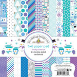 Doodlebug Design - Frosty Friends Collection - Christmas - 6 x 6 Paper Pad
