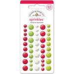 Doodlebug Design - Santa Express Collection - Christmas - Sprinkles - Self Adhesive Enamel Dots