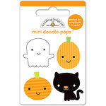Doodlebug Design - Ghouls and Goodies Collection - Halloween - Doodle-Pops - 3 Dimensional Cardstock Stickers - Mini - Punkins and Friends