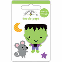 Doodlebug Design - Ghouls and Goodies Collection - Halloween - Doodle-Pops - 3 Dimensional Cardstock Stickers - Mini - Franky