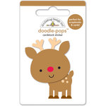 Doodlebug Design - Santa Express Collection - Christmas - Doodle-Pops - 3 Dimensional Cardstock Stickers - Darling Deer