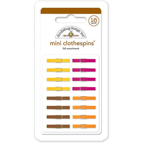 Doodlebug Design - Mini Clothespins - Fall