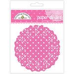 Doodlebug Designs - Paper Doilies - Polka Dot - Bubblegum