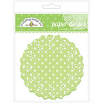 Doodlebug Designs - Paper Doilies - Polka Dot - Limeade