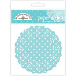 Doodlebug Designs - Paper Doilies - Polka Dot - Swimming Pool