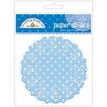 Doodlebug Designs - Paper Doilies - Polka Dot - Blue Jean