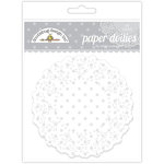 Doodlebug Designs - Paper Doilies - Polka Dot - Lily White