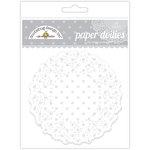 Doodlebug Design - Paper Doilies - Polka Dot - Lily White