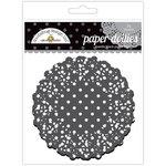 Doodlebug Design - Paper Doilies - Polka Dot - Beetle Black