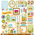 Doodlebug Design - Happy Camper Collection - 12 x 12 Cardstock Stickers - This and That