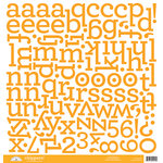 Doodlebug Designs - Chippers - Chipboard Stickers - Alphabet - Tangerine