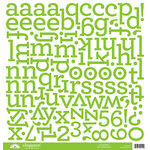 Doodlebug Designs - Chippers - Chipboard Stickers - Alphabet - Limeade