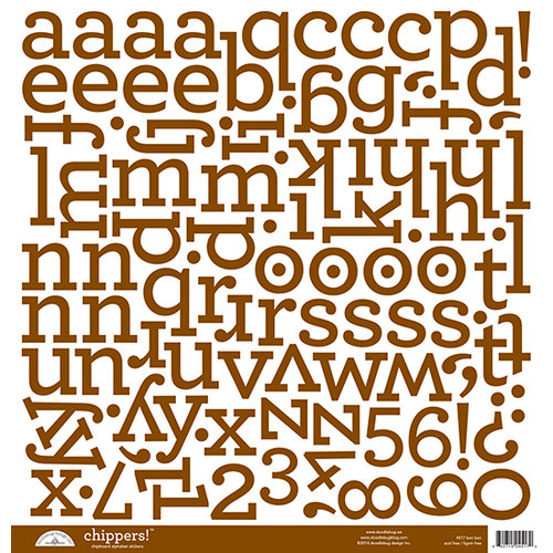 Doodlebug Designs - Chippers - Chipboard Stickers - Alphabet - Bon Bon