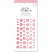 Doodlebug Design - Glitter Sprinkles - Self Adhesive Enamel Dots - Cupcake