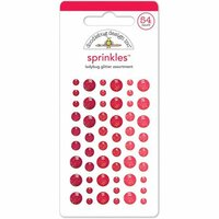 Doodlebug Design - Glitter Sprinkles - Self Adhesive Enamel Dots - Ladybug