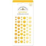 Doodlebug Design - Glitter Sprinkles - Self Adhesive Enamel Dots - Bumblebee
