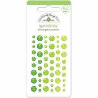 Doodlebug Design - Glitter Sprinkles - Self Adhesive Enamel Dots - Limeade