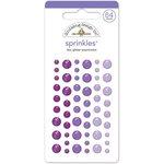 Doodlebug Design - Glitter Sprinkles - Self Adhesive Enamel Dots - Lilac